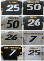 bell numbers - 2016 Mens Steelers Elite Jerseys Roerhlisberger BURNS Bell SHAZIER Stitched Jerseys Number Mix Order