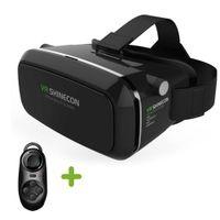 Wholesale New Shinecon VR Virtual Reality D Glasses Headset Helmet Google Cardboard Oculus Rift DK2 Gear for iPhone Samsung inch Smartphone