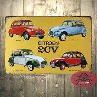 Wholesale 20 cm Retro Car Vintage Metal Sign tin Plate sign Garage Tavern Room Decoration B