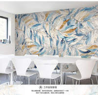 Wholesale Mural Tv background wall wallpaper seamless large mural fashion personality quality three dimensional d wallpaper