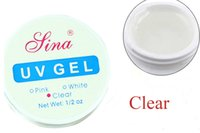 Wholesale Clear Pink White Color SINA UV GEL BUILDER GEL Colors UV Gel Manicure Extension Gel Polish