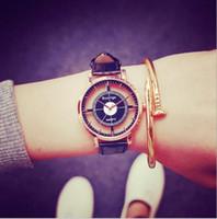 Precio de Gifts-Reloj de mujer de moda Relojes de diseño único hueco de doble estrella doble con estilo Reloj de mujer casual de reloj de cuarzo reloj de mujer