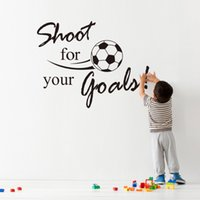 animals shooting games - Shoot For Your Golas inspiration quote words home decor wall sticker boys kids room Football decoration sports game party poster
