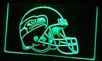 Wholesale LS418 g Seattle Seahawks Helmet Bar Neon Light Sign jpg