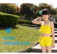 baby swim age - Girls Bikini Set Bikini Infantile Girl Swimsuit Baby Swimwear Kids Bathing Suits Two Pieces Swimming Suit For Children Age WA0108