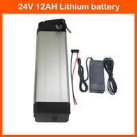Wholesale Lithium battery V AH Silver fish Bottom Discharge W V Electric Bike battery with A charger and BMS