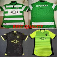 Wholesale DHL Mixed Soccer Jersey Sporting Lisbon Jersey de futbol Luis Figo Nani TEO Slimani William Montero Home Away Top Quality Football