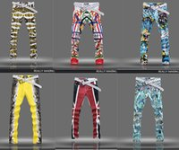 Wholesale Hot jeans for men men s fashion jeans men big sale autumn clothes new fashion brand Men s Printing Hip hop pants