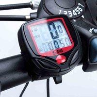 Wholesale Waterproof LCD Digital Bicycle Computer Odometer Voltmeter MTB Road Bike Speedometer Accessories Functions Bike Computer