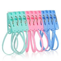 Wholesale 12pcs Multifunctional Creative Windproof Plastic Clip Underwear Strap Clips on Drying Rack for Household for