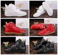 Las nuevas zapatillas de deporte de Maison Martin Margiela del estilo de 2016 Zapatos de cuero de la alta calidad forman la marca de fábrica de lujo de los hombres calza las zapatillas de deporte Eur 38-46