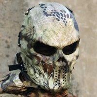 airsoft bb guns - 2016 New Emirates M06 Predator Mask Full Face Scary Skull Skeleton Airsoft BB Gun CS Full Face Protect Mask