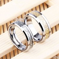 Wholesale Beautiful Design Newest Fashion Gold Dragon Stainless Steel Men s Finger Ring Jewelry Wedding Band Gifts