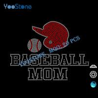 baseball mom t shirts - 2016 Popular Baseball Mom Rhinestone t Shirt Transfer For Boys pieces
