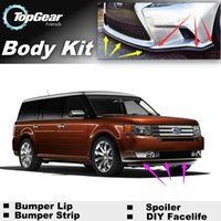 Wholesale For Ford Flex Bumper Lip Lips Front Skirt Deflector Spoiler For Car Tuning The Stig Recommend Body Kit Strip