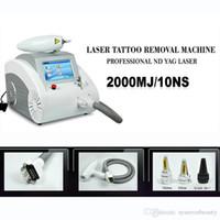 al por mayor q switched-Pantalla táctil 1000w Q conmutado nd yag láser belleza maquillaje eliminación de tatuajes Eliminación del acné de la cicatriz 1320nm 1064nm 532nm