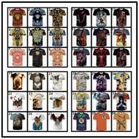 Wholesale 72 Styles T shirts D Printing Abstract Thinker Japanese Dragonball Naruto Painting Animal and Clown Deadpool by ePacket