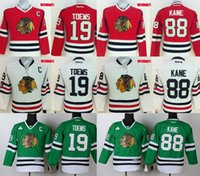 Wholesale NHL Blackhawks lady jerseys Women s cheap hockey jerseys Chicago TOEWS KANE red white green freeshipping