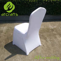 Wholesale best sale in China white wedding spandex lycra elastic chair cover with