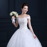 beautiful eye pictures - 2016 Spring Summer Season New Lace Wedding Dress Large Size Slim Beautiful Confortable Tight White Colour Lace Eye contracting B