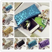 Wholesale Women Coin Purse Clutch Wristlet Ladies Wallets PU Leather Handbags Coin bag Key Holder Small Women Bags Colorful