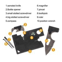 Wholesale 10in1 Multi purpose tool card Portable Pocket Credit Card Survival Knife Outdoor Camping Tools