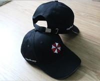 baseball cap umbrella - Resident Evil Biohazard Umbrella Corporation Logo Anime Cosplay Baseball Hat