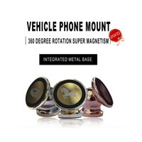 base cars - Updated car mount holder Integrated metal base degree rotation mini magnetic phone stand in car universal for phone customizable LOGO