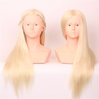 Wholesale Latest Product Fashion Style100 High Tempearture Synthetic Fiber Straight Hair The Test Head Cosmetology Mannequin Free Stands