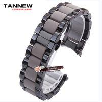 baotou steel - Baotou plastic watch band mm mm stainless steel strap black male Original applies AR1451 AR1452