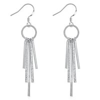 Wholesale Fashion Women s Silver Plated Tassel Stud Earrings Jewelry LKNSPCE128