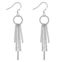 Wholesale Fashion Women s Silver Plated Tassel Stud Earrings Jewelry LKNSPCE128