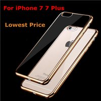 aluminum silicon cover - For Apple iPhone Bumper Ultra Thin Aluminum Metal Frame Coque Slim Soft Silicon Side Protector Case Cover For iPhone Plus