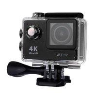Wholesale H9 Ultra HD K Action Camera EU PLUG BLACK WiFi Degree Wide Angle inch LCD Screen