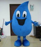 acqua free - Mascot Vendita calda goccia di pioggia costume adulto acqua goccia mascotte costume