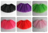 Wholesale 60pcs Candy color small girl layers mesh tutu dance skirt baby girl bubble skirt tutu dress ballet skirt pettiskirt clothes