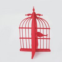 Wholesale Fashion home Furnishing decoration New felt bird cage combination decoration accessories drop shipping Can be customized