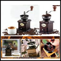 Wholesale High quality vintage hand mill coffee machine household manual coffee bean muller