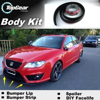 Wholesale The Stig Recommend Body Kit For SEAT Exeo Front Skirt Deflector Spoiler For Car Tuning Bumper Lip Lips Strip