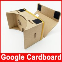 Wholesale DIY Google Cardboard D Glasses Ultra Clear Virtual Reality VR Mobile Phone Movie Game D Viewing Google Glasses