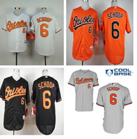 authentic orioles jerseys - Baltimore Orioles Jonathan Schoop Jersey Black Orange White Grey Cool Base Stitched Authentic Baseball Jersey
