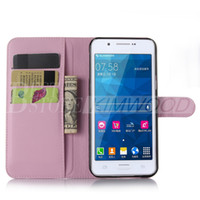 alpha card - For Samsung Alpha E7 ON7 ON5 Wallet PU Leather Case Cover Pouch With Card Slot Photo Frame in Opp Package