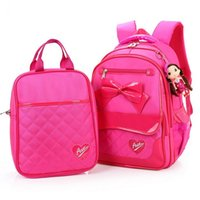 backpack bag tutorial - Cute Bowknot Grade Students School Bags Tutorial Bag Waterproof Girl Backpack Child kid School Backpacks Mochila Escolar S385