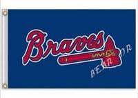 atlanta sporting goods - Atlanta Braves Flag MLB Flag hot sell goods X5FT x150cm Sport Outdoor Banner brass metal holes Custom flag