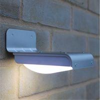 Wholesale New nd Generation LEDs Outdoor Wireless Solar Powered PIR Motion Sensor Light Wall lights Security lights Outdoor Garden Path Wall Li