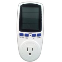 Wholesale US Plug Power Energy Watt Voltage Amp Meter LCD Monitor Overload Display