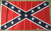 Wholesale Printed Flag Confederate Rebel Civil War Flag National Polyester Flag X5FT D by DHL