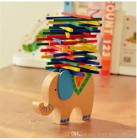 Wholesale Balance Wooden Puzzle Toys Wooden Building Blocks Elephant Camel horse Balancing Blocks Sticks Models Educational Blocks Toys