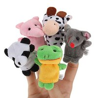 Wholesale New Farm Zoo Animal Finger Puppets Toys Boys Girls Babys Party Bag Filler