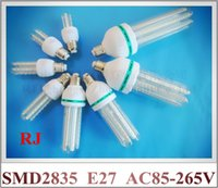 Wholesale New arrival high bright SMD LED corn bulb light lamp W W W W W W W W AC85 V E27 CE ROHS warm white cool white